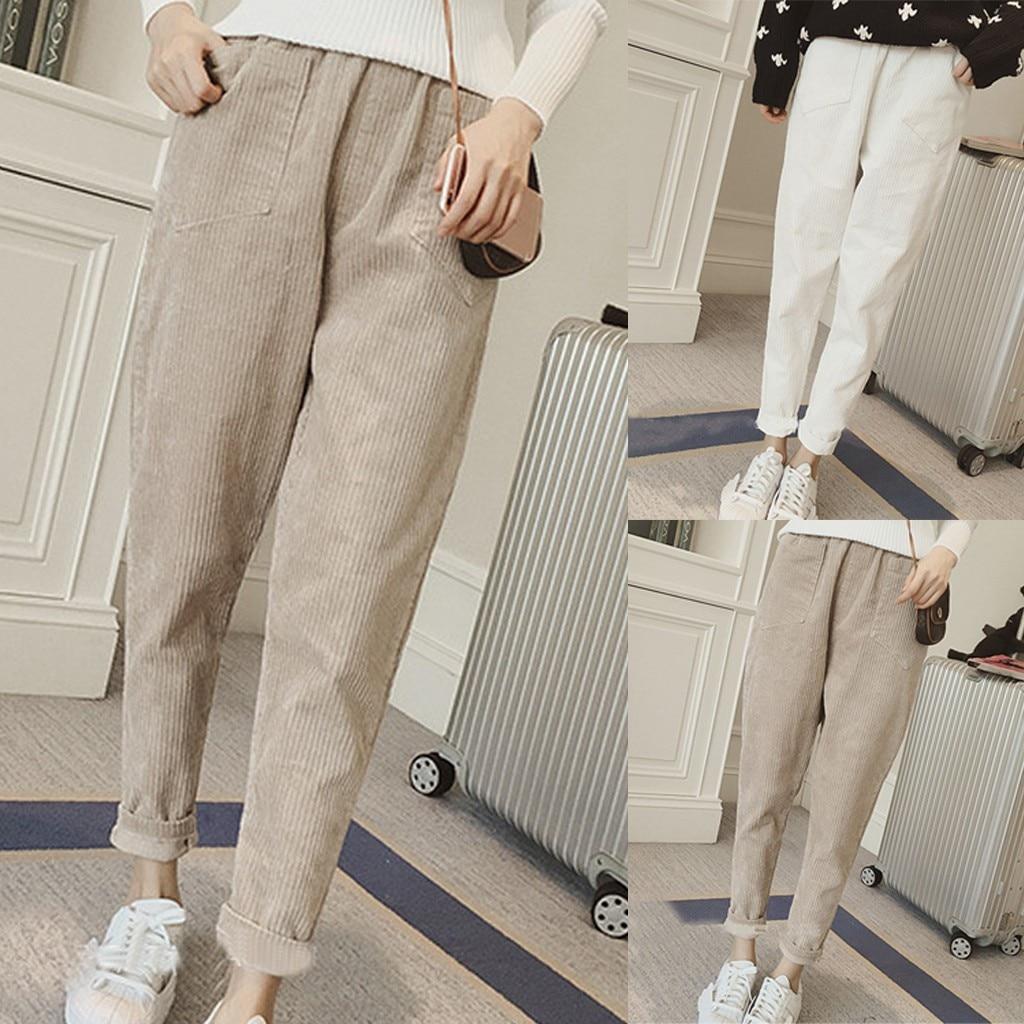 [해외]Solid Color Trousers Pencil  Pant Long Pant Fashion Women Casual Loose Solid Color Trousers Pencil  Pant Long Pant Woman Clothes/Solid C