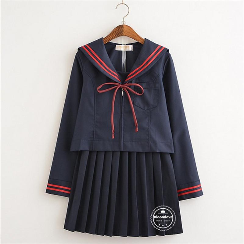 [해외]클래스 서비스 한국 학생 유니폼 가을 셔츠 + 스커트 코러스 코스프레 영국 여학교 교복 OY-HEB01/Class Service Korean Students Uniforms  Autumn Shirt + Skirts Chorus Cosplay British Sch