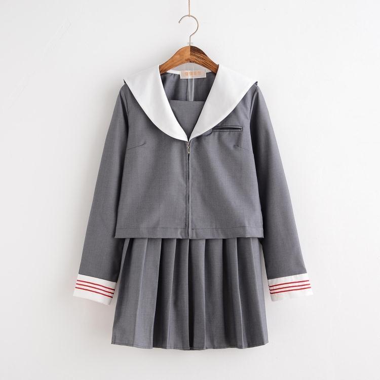 [해외]2017 여름 학교 교복 세트 학생복 제복 학생 정장 세트 정장 제복/2017 summer school uniform set student uniform tie sailor suit set table costume japanese school uniform gi