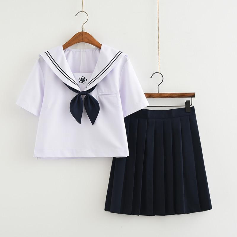 [해외]2017 일본과 한국 여성 학생 영국 해군 사관학교 유니폼 여가 옷 선원 복장 티셔츠  치마/2017 Japan and South Korea female students British naval academy school uniform leisure suit s