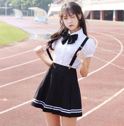 [해외]2017 가을 학교 유니폼 세트 학생 제복 넥타이 선원 정장 테이블 의상 일본 학교 유니폼 소녀 짧은 Retail/2017 autumn school uniform set student uniform tie sailor suit set table costume j