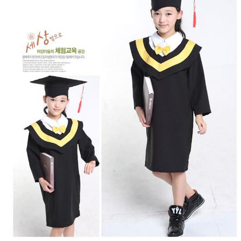 [해외]11.11 어린이 성과 의류 학업 복장 가운 유치원 박사 천 졸업 한 학사복 Dr cap/11.11 Children Performance Clothing Academic Dress Gown Kindergarten Dr Cloth Graduated Bachelor