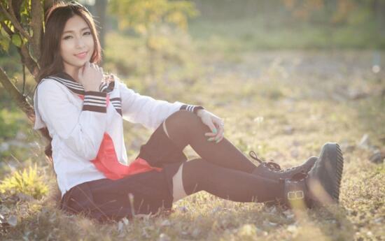 [해외]10 세트 페덱스 JapaneseHell Girl Cosplay Costume 학교 교복 귀여운 소녀 Sailor Suit JK 학생용 탑 + 드레스 + 타이 의류/10 sets fedex JapaneseHell Girl Cosplay Costume School