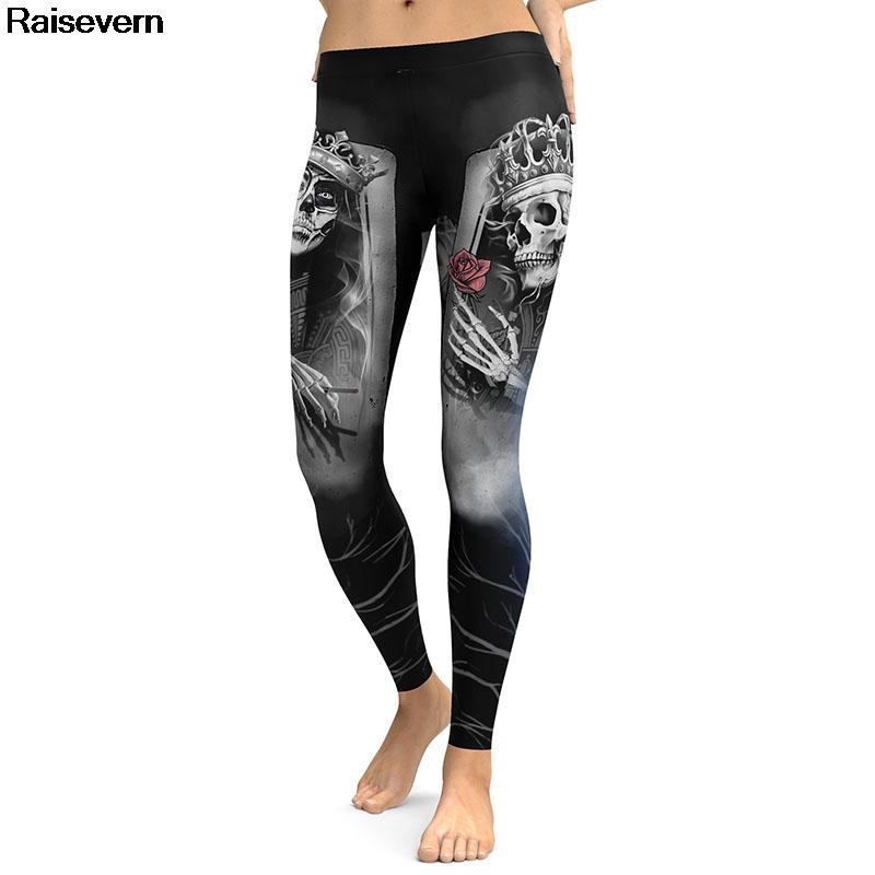[해외]해골 레깅스 여성 섹시한 계속 슬림 푸시 업 피트니스 여성 legging 바지 하이 허리 탄성 의류 캐주얼 운동복 고딕/Skull Leggings Women Sexy keep slim Push Up fitness female legging Pants High W