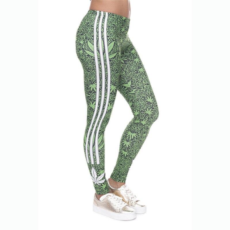 여성 캐주얼 육군 녹색 스포츠 레깅스 인쇄 된 바지 여성 피트니스 빠른 건조 바지 따뜻한 탄성 레깅스 운동 legging