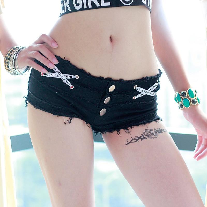 [해외]Nuevo vendaje atractivo borla bajo caliente cintura alta corte sexy Denim Booty sexy jeans shorts Hollow Micro Mini corto para las mujeres/Nuevo v