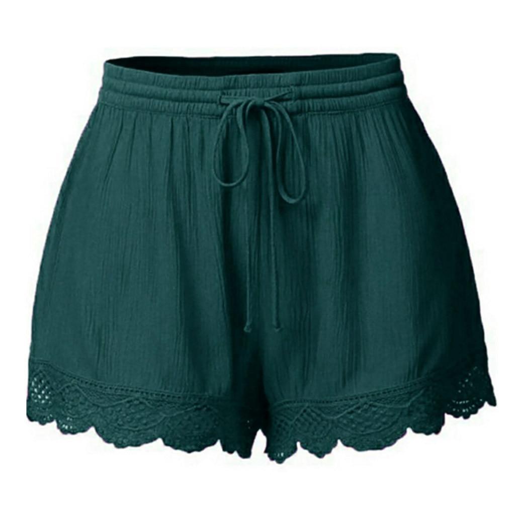 [해외]High Waist Shorts For Women Summer Plus Size Shorts Korean Style Cargo Sexy Green Shorts Sports Rope Tie Sweatpants Trousers/High Waist