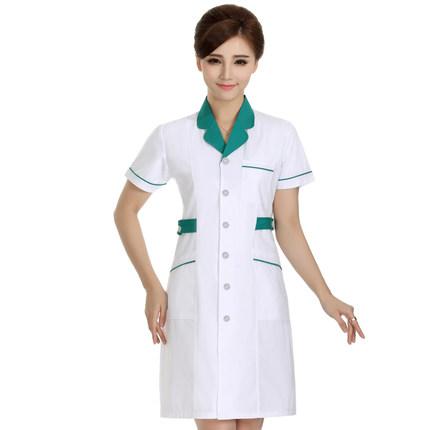[해외]함께 흰 가운 뷰티 살롱 약국 약국 허리 간호 반팔 여름 바지 do309/In accordancethe white gown beauty salon pharmacy pharmacy waist nursing short-sleeved short-sleeved summ