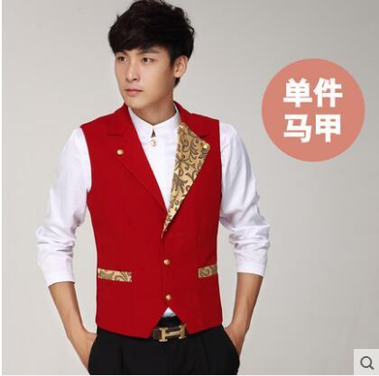 [해외]바 웨이터 유니폼 웨이터 조끼/Bar waiter uniform Waiter vest