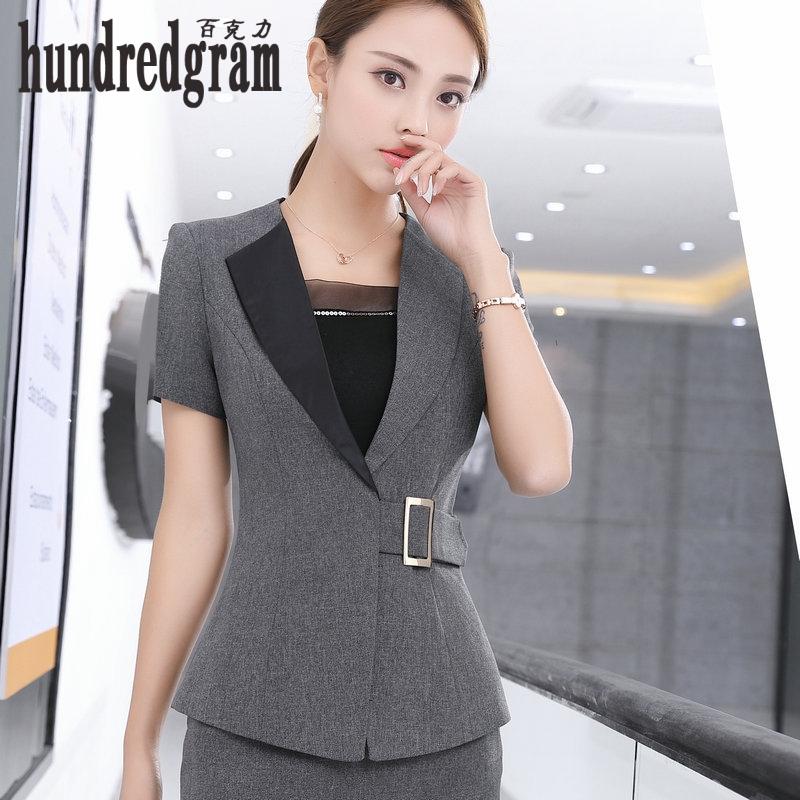[해외]새로운 봄, 여름 전통적인 OL 클래식 짧은 Retail 전문 스커트 정장 작업 정장 -dod480/New spring and summer traditional OL classic short sleeve professional skirt suit suits wo