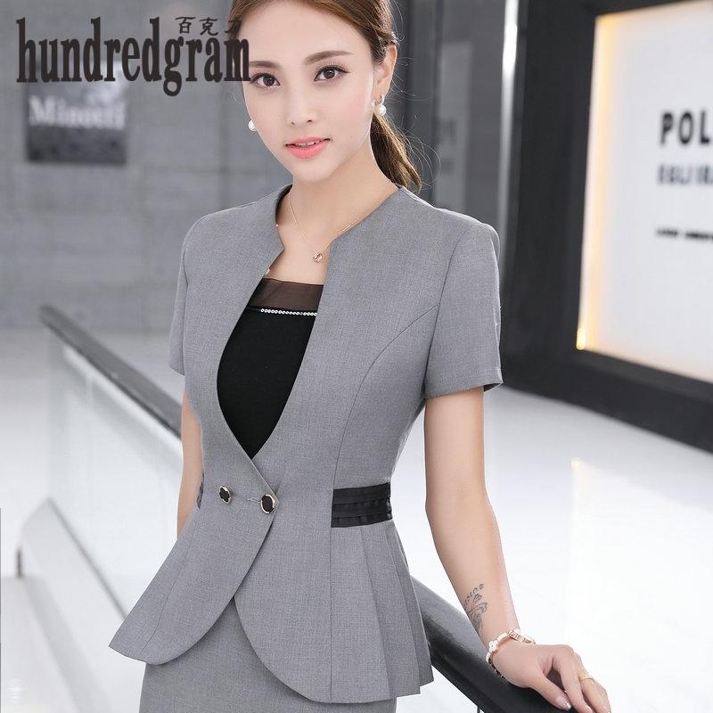 [해외]새로운 봄, 여름 전통적인 OL 클래식 짧은 Retail 전문 스커트 정장 작업 정장 -dod478/New spring and summer traditional OL classic short sleeve professional skirt suit suits wo