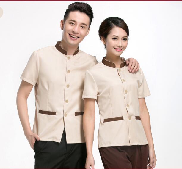 [해외]여성 2017 클리너 유니폼 반 Retail 룸 수행원 PA 유니폼/Woman 2017 Cleaner uniform Short sleeves Room Attendant PA uniforms