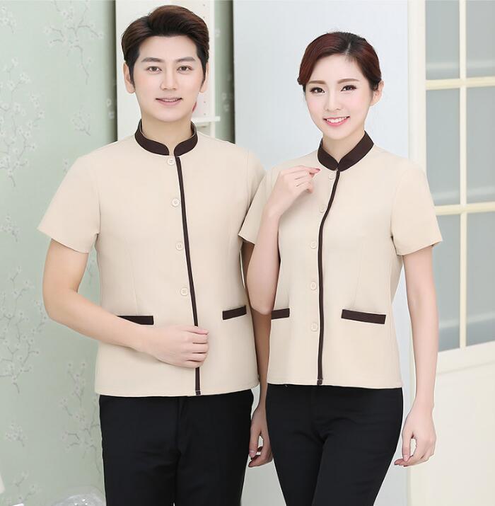 [해외]Summe Cleaner 유니폼 여성용 반팔 호텔 청소 셔츠/Summe Cleaner uniform Woman short sleeve Hotel cleaning shirt