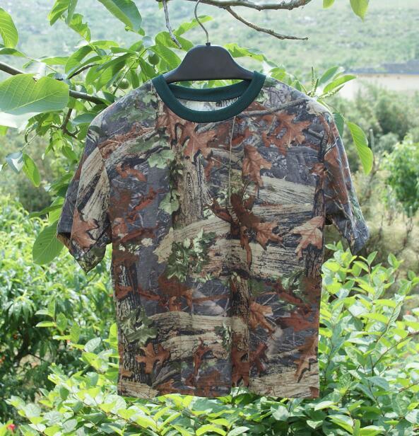 [해외]생체 공학 위장 죽은 잎면 반Retail 티셔츠/Bionic camouflage Dead leaves Cotton short sleeve T-shirt