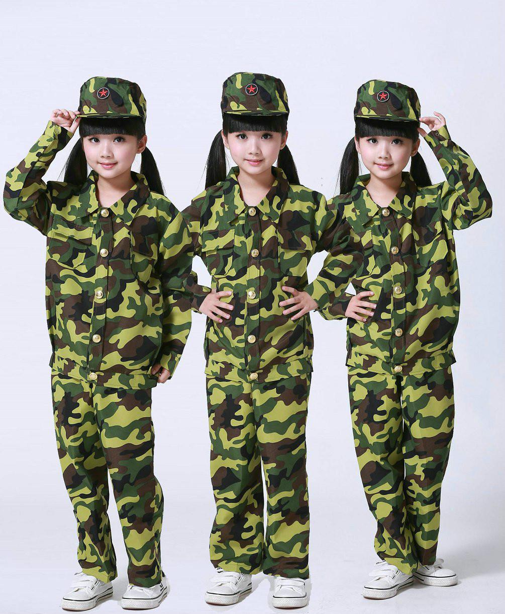 [해외]위장 의류 세트 아이 군대 복장 아동 스포츠 정장 긴 Retail 학교 군대 훈련 교복/Camouflage Clothing Set Kid Military Uniform Clothes Children&s Sport Suit Long Sleeve School Mil