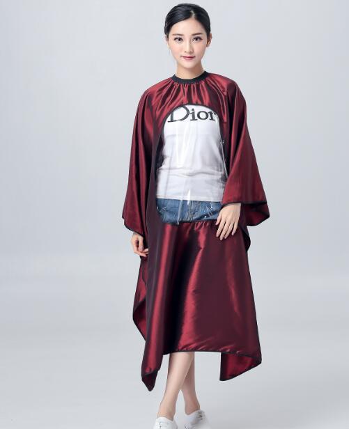 [해외]미용 앞치마 이발사 앞치마 투명 145 * 160cm/Hairdressing apron Haircut apron Transparent 145*160cm