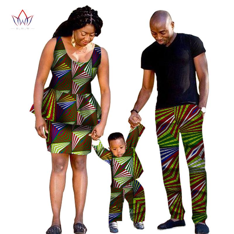 [해외]2017 아프리카 전통 의류 패션 패밀리 매칭 의류 브랜드 어머니와 아들 아기 면화 세트 5 개 세트 BRWYQ33/2017 african traditional Clothing Fashion Family Matching Clothes Brand Father Mo