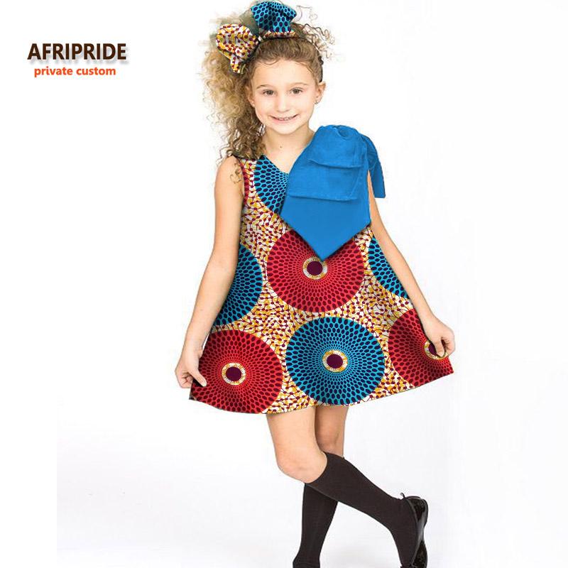 [해외]2017 어린이 드레스 여자 복장 AFRIPRIDE 개인 맞춤 위의 무릎 민Retail A- 라인 드레스 활 어깨 왁스 코튼 A724506에/2017 CHILDREN clothes girls dress AFRIPRIDE private custom above-kn