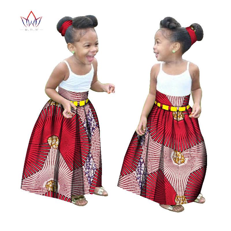 [해외]여름 어린이 아프리카 의류 맞춤형 소녀 패션 긴 치마 아프리카 대시 인쇄 Clothinga 무료 머리띠 BRW WYT34/Summer Children African Clothes Customized Girl Fashion Long Skirt African Das