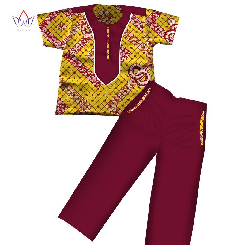 [해외]2017 소년 의류 아프리카 Dashiki 어린이 의류 반팔 플러스 솔리드 컬러 긴 바지 어린이 WYT116/2017 Boys Clothes African Dashiki Kids Clothing Short Sleeves Plus Solid Color Long P