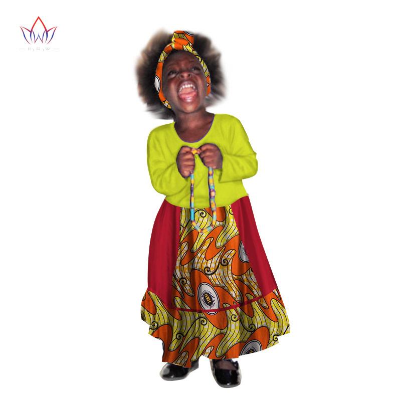[해외]2017 아프리카 여성 의류 키즈 대시 키 전통적인 코튼 원피스 아프리카 프린트 원피스 어린이 가을 BRW WYT112/2017 African Women Clothing kids dashiki Traditional cotton Dresses Matching Af
