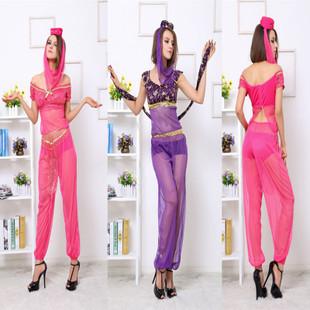 [해외]도매 최신 인도 여성 밸리 댄스 드레스 알라딘 아랍 레이디 아름다운 거즈 의상 베일 모자 속옷 인도의 사리/Wholesale Newest Indian Women Belly Dance Dress Aladdin Arab Lady Beautiful Gauze Cost
