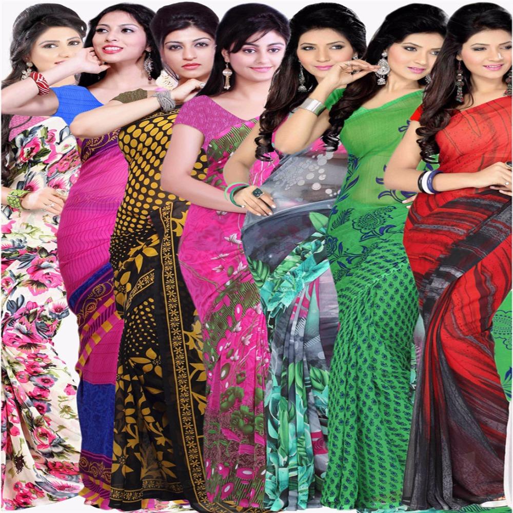 [해외]인도 Saree 사용자 지정 만든 블랙 조젯 인도 사리 복장 여자 여자 인도 전통 Sarees/Indian Saree Custom Made Black Georgette India Sari Dress Girls Women Indian Traditional Sare