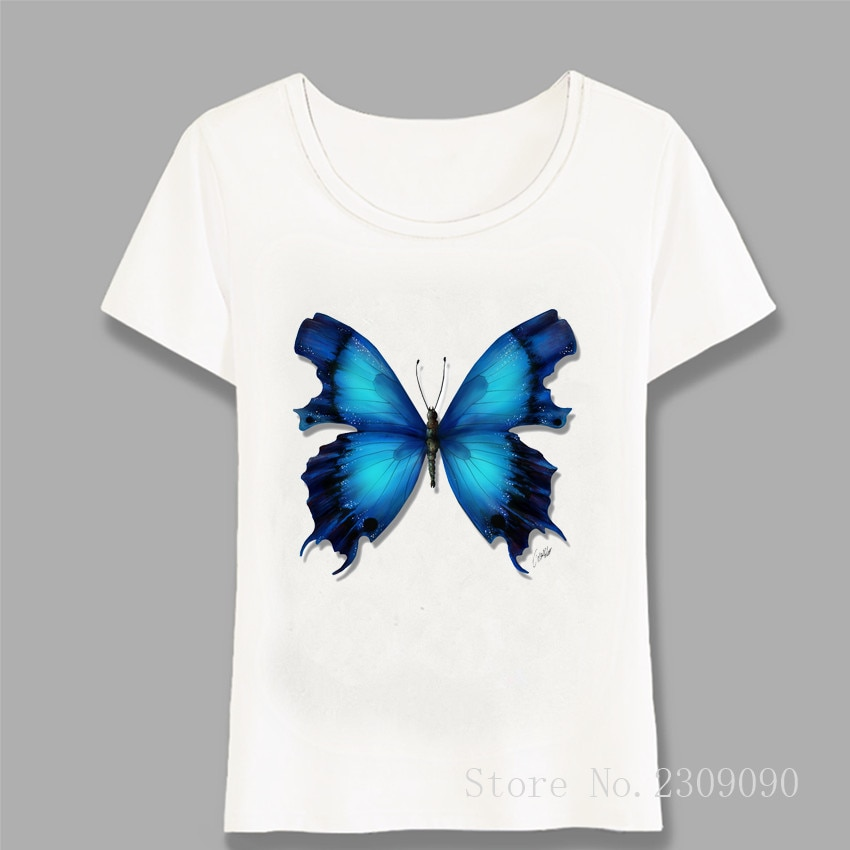 <span style=''>[해외]/Butterflies Collection Lover Print T-Shirt Wo..</span>