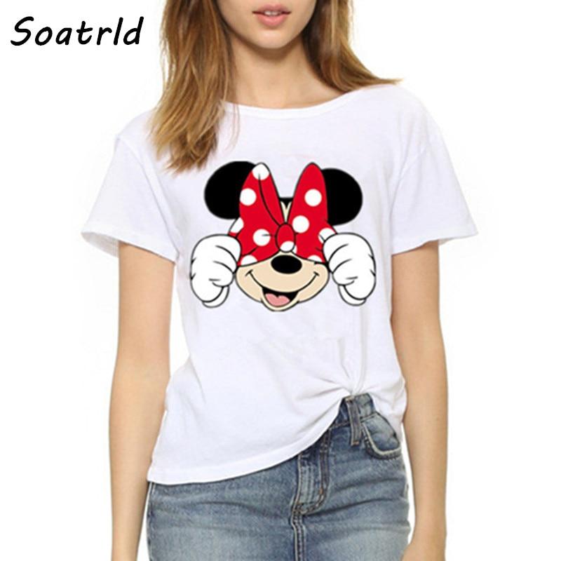 [해외]2017 Summer Women T Shirt Short Sleeve O Neck female T-shirt Fashion Funny Mouse Casual Clothing Camisetas Mujer Plus Size Tops/2017 Sum