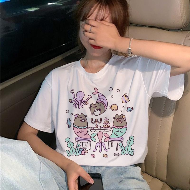 <span style=''>[해외]Pusheen Cat T Shirts Women Harajuku Funny Cart..</span>