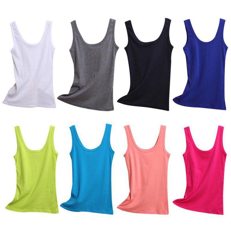 [해외]2019 Spring Summer Tank Tops Women Sleeveless Round Neck Loose T Shirt Ladies Vest Singlets Camisole Cotton Ladies Thin Vest 2/2019 Spri