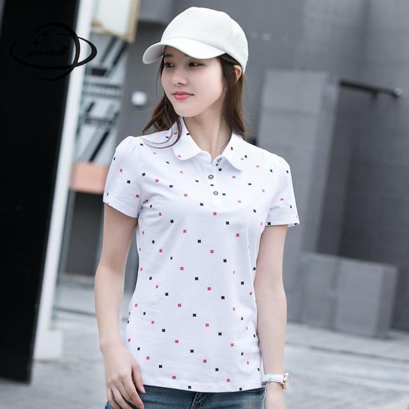 [해외]YAUAMDB 여성 티셔츠 여름 M-4XL 여성 탑 프린트 티셔츠 짧은 Retail 슬림 패션 캐주얼 여성 의류 ly47/YAUAMDB women polo shirts summer M-4XL female tops print tees clothing short s