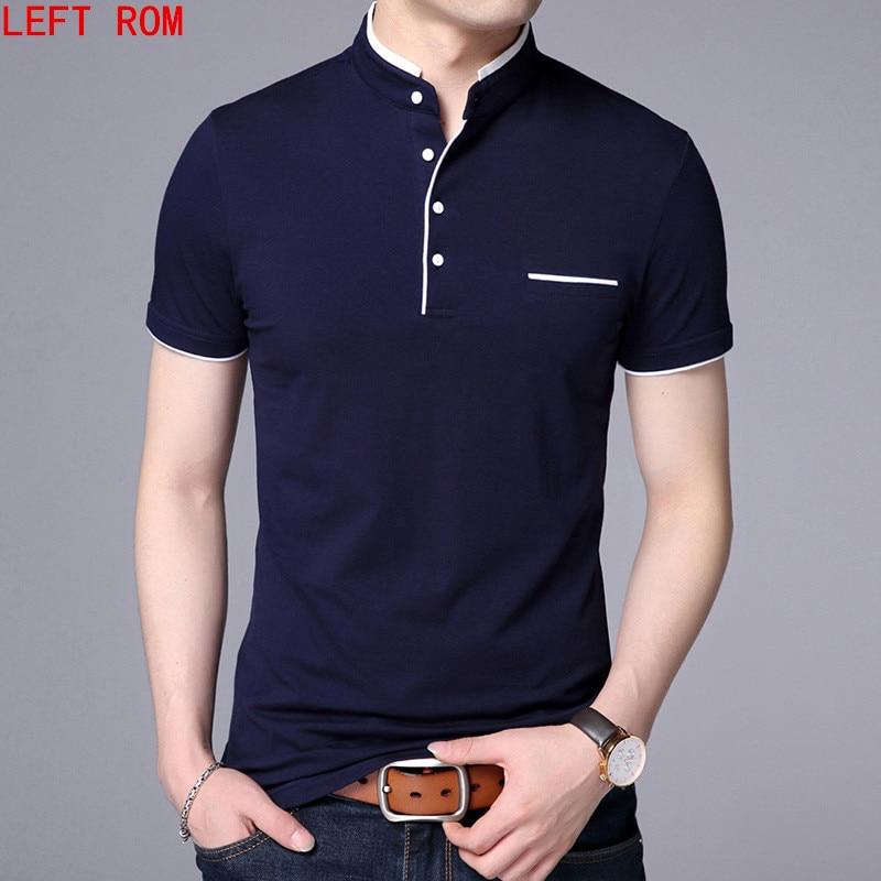 [해외]?Men Polo Shirt 남성용 반팔 무지 티셔츠 Camisa Polos Masculina 2018 캐주얼면 플러스 S-3XL 탑스/ Men Polo Shirt Mens short Sleeve Solid Polo Shirts Camisa Polos Mascu