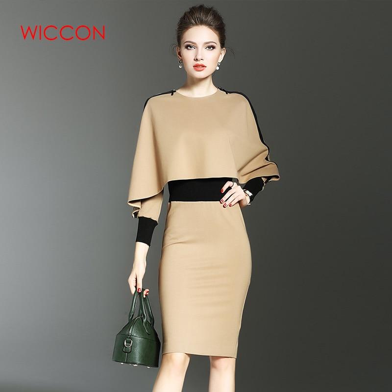[해외]Fashion Elegant Women Dress Suit OL Work Office Lady Formal Business Wear Bodycon Slim Vintage Cape Coat Two Piece Set Outfit/Fashion Elegant Wome