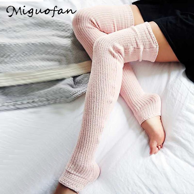 [해외]Miguofan Leg Warmers Simple Solid Knitted Women`s Socks 2019 New Spring Casual All-match Long Warm Elastic Gaiters Brief Sock/Miguofan Leg Warmers