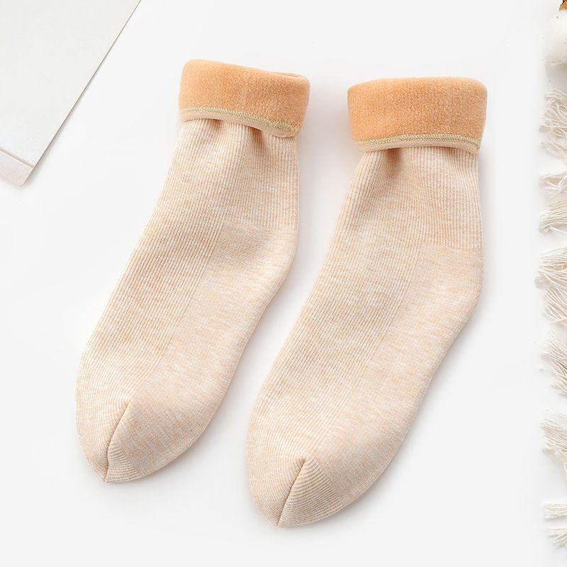 [해외]여자 겨울 따뜻한 slouch 부츠 양말 양모 바닥 스노우 코튼 여성 in-tube 발목 양말