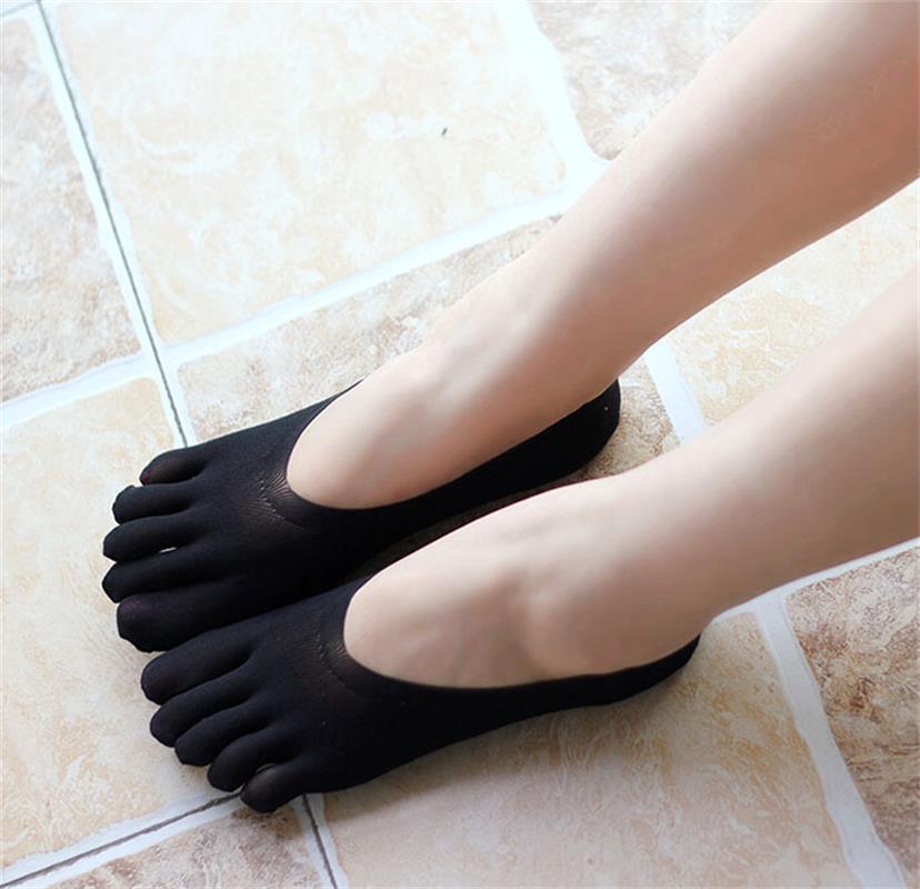 [해외]Fashion Sexy Women Ankle Five Finger Toe Cotton Socks Invisible Hosiery Boat Socks 3 Colors Solid Lovely Socks Slippers  /Fashion Sexy Women Ankle